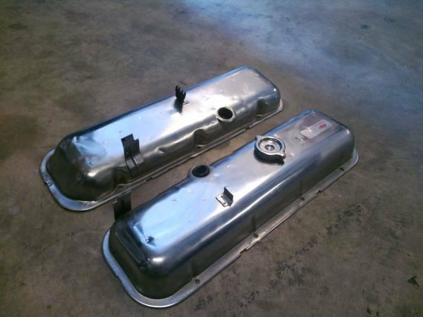 Factory Chrome High Performance BBC Valve Covers - $50