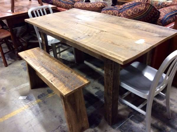 Farm table bench for sale in asheville north carolina for Table asheville
