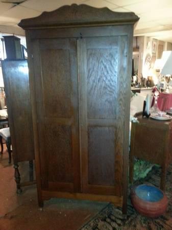 Farmhouse Chic Oak Wardrobe Closet Vintage Antique Rustic