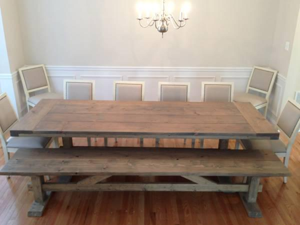Farmhouse table and benches for Sale in Glen Burnie Maryland Classified