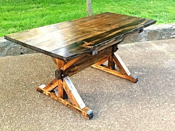 Farmhouse Trestle Table for Sale in Nashville Tennessee Classified