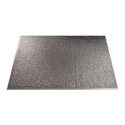 fasade 18 in x 24 in hammered brushed nickel decorative