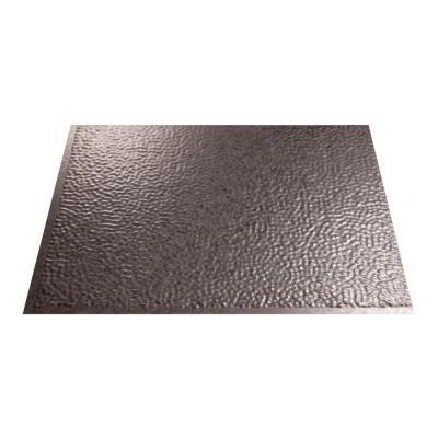 Fasade 18 in. x 24 in. Hammered Galvanized Steel PVC