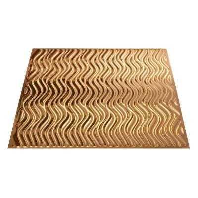 Fasade 4 Ft X 8 Ft Current Vertical Polished Copper Wall Panel For