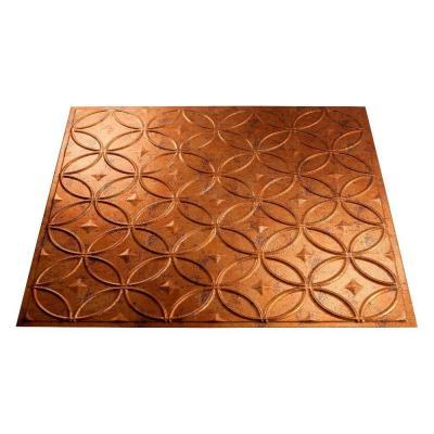 Fasade 4 Ft X 8 Ft Rings Muted Gold Wall Panel For Sale In