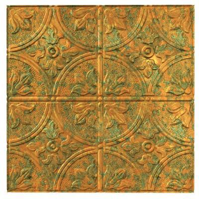 Fasade 4 ft. x 8 ft. Traditional 2 Copper Fantasy Wall Panel for ...
