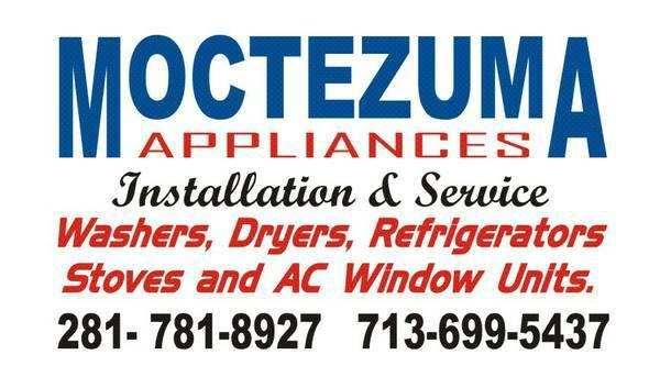 FAST AND EASY REPAIRS!!! DONE AT MOCTEZUMA APPLIANCE!
