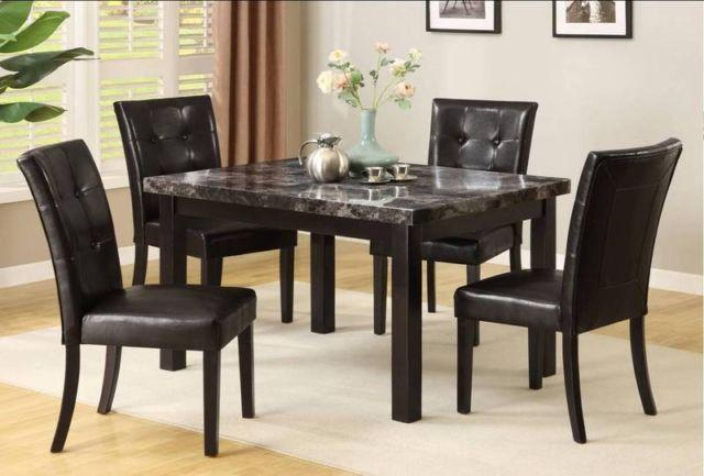 Faux Marble 5pc Kitchen Table Set Completely New For Sale