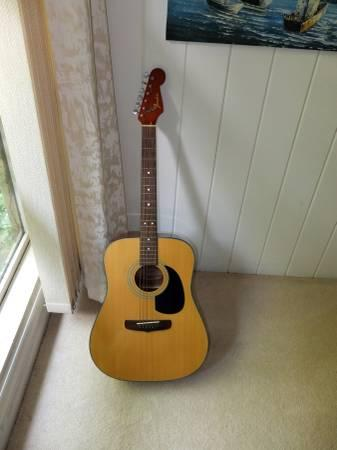 Fender California Accoustic with Stratocaster neck -