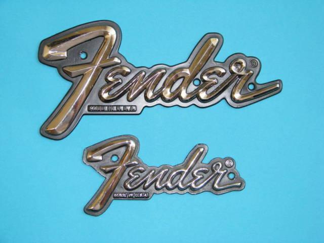 Fender LARGE Metal Amp Logo - (Brick-Lakewood for sale in Lakehurst, New  Jersey
