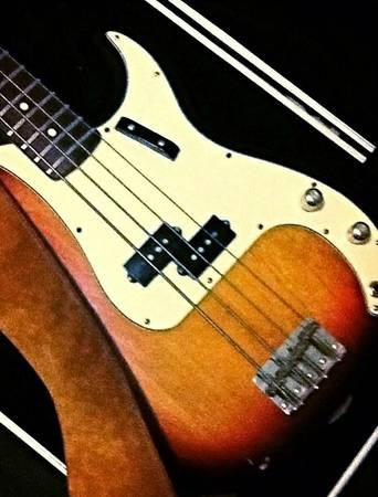 Fender Usa Precision Bass W Hsc And Peavey Bass Stack For Sale In