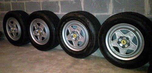 Ferrari Cromodora wheels and Michelin TRX tires from Mondial QV -
