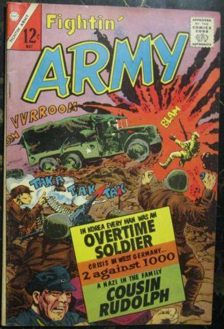 FIGHTIN' ARMY# 52 May 1963 Sam Glanzman Cover/Art