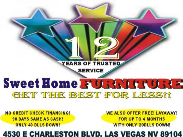 FINANCE W/ BAD CREDIT! TAKE YOUR FURNITURE W/ ONLY $40