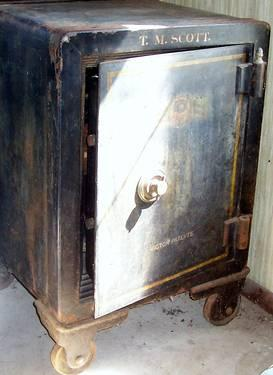 Fire Proof Safe Steel And Concrete Victor Patents Circa