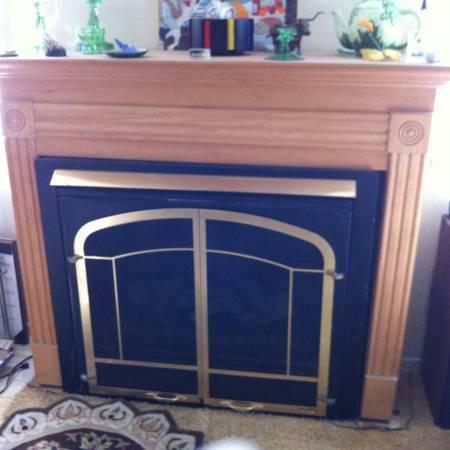 FIREPLACE ~ ELECTRIC LOGGS THAT GLOW WITH HEATER ~ FAN