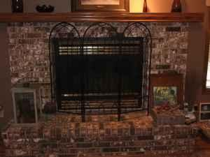 Fireplace Screen with candle holders - $20 (Topeka)