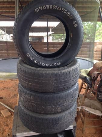 Firestone Destination tires 255 65R 17 - $125