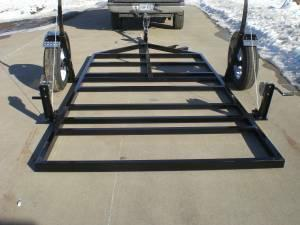Fish house crank down trailer for sale in brainerd for Fish house frames for sale