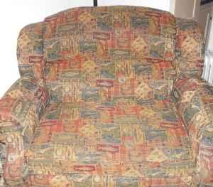 Fish Pattern Fabric Chair, Oversized Recliner, Includes