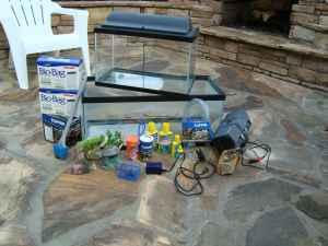 Fish Tanks 10gal and 20gal w/accessories - $30