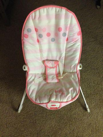 fisher price baby bouncer pink butterfly for sale in nashville