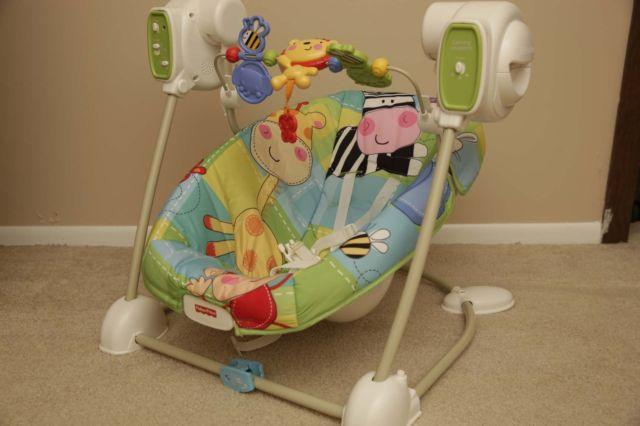 Fisher Price Discover And N Grow Jungle Baby Swing Vibrating