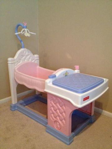 Fisher Price Doll Nursery Cradle With Sink Changing