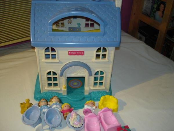 Fisher Price Dollhouse People Furniture Sand
