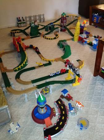 Fisher Price Geo Trax Train sets - $200