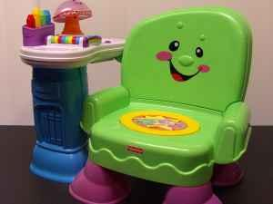 FISHER PRICE LAUGH AND LEARN MUSICAL CHAIR PRECIOUS