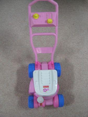 Fisher Price Lawn Mower Blows Bubbles Pink For Sale In