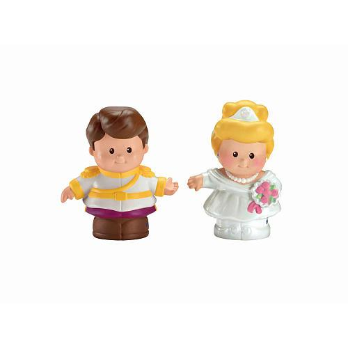 Fisher-Price Little People Disney Princess Figures 2-Pack - Cinderella and Prince