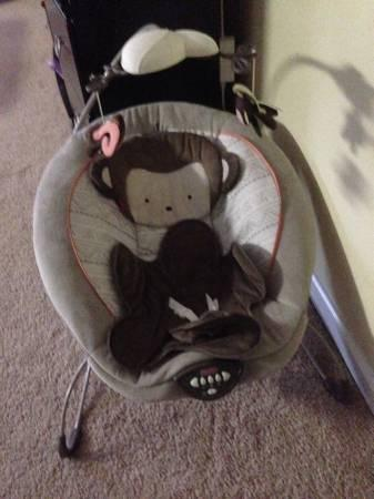 fisher price little snuga monkey baby bouncer for sale in port