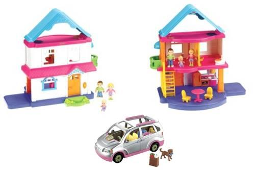 fisher price my first dollhouse, furniture & minivan for sale in