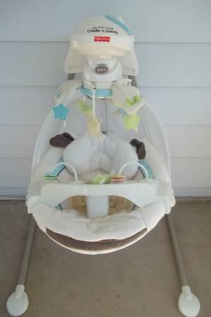Fisher Price My Little Lamb Cradle Swing - $80