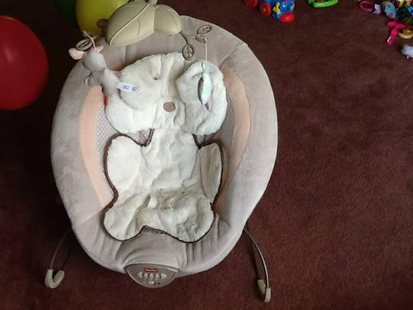 fisher price my little snugabear deluxe baby bouncer for sale in