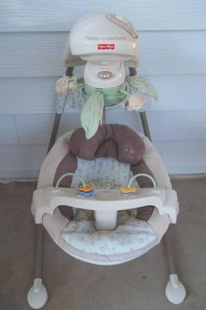 Fisher Price Natures Touch Papasan Swing - $70