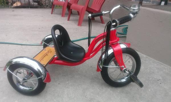 Fisher Price Rock Roll N Ride Tricycle and 12 Schwinn Roadster Trike - $15