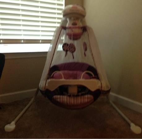 Fisher Price Sugar Plum Starlight Cradle N Swing Make