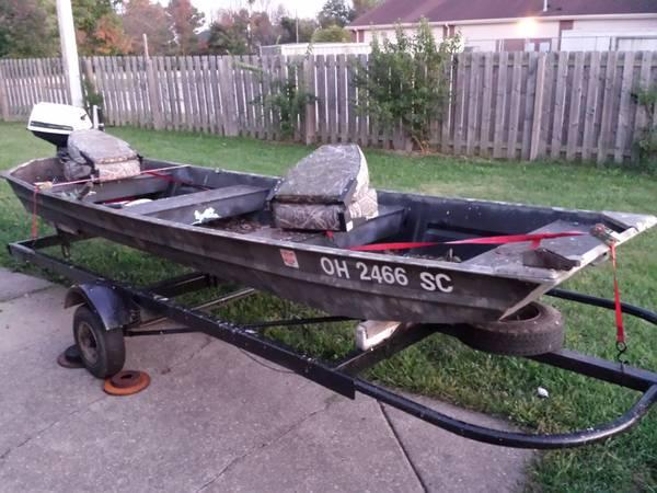 Fishing hunting boat trailer for sale in huber for Fishing boats for sale in ohio