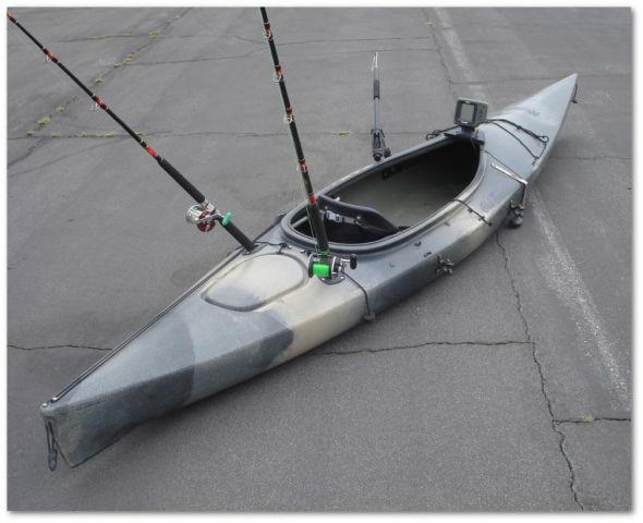 fishing kayak 14 foot with fish finder paddle vest