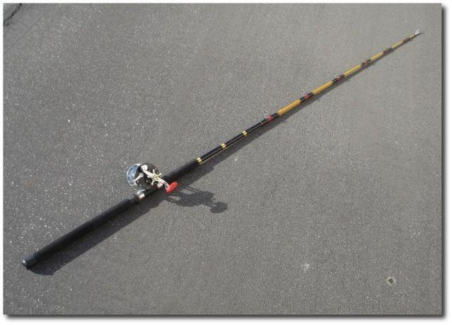 fishing pole with penn reel usa made rod for ocean boat