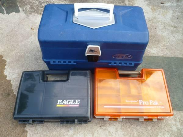 Fishing tackle boxes - $30