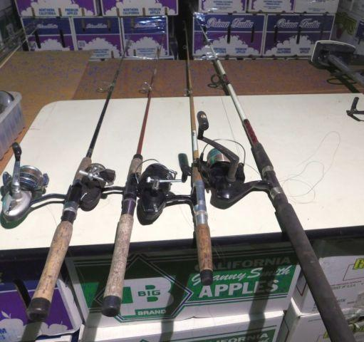 fishing tackle, fishing rods,ice auger,snow shoes