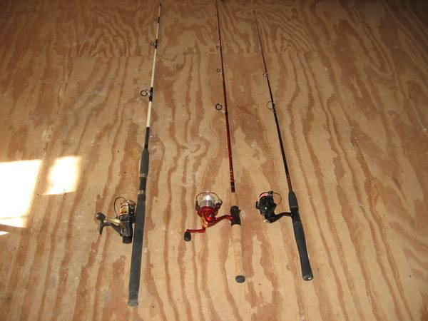 Fishng Rods and Reels - $30