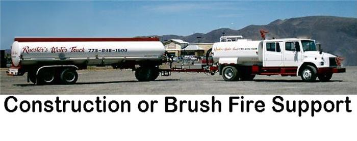 FL70 WATER TRUCK & 8,000 gal  TRAILER for DUST CONTROL & WILDFIRE SUPPORT
