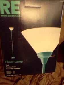 Floor lamp Teal new - $15 (Highlands Ranch)