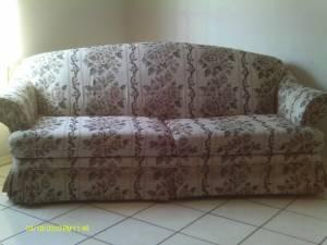 Floral Sofa, sofa chair, rocker and ottoman, ent. ctr.