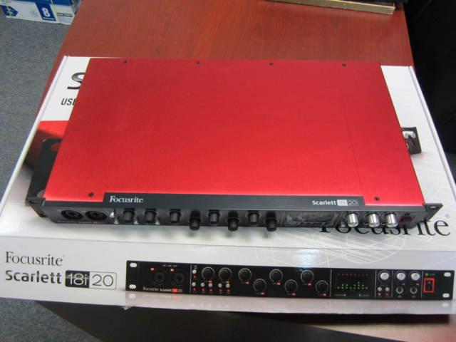 Focusrite Scarlett 18i20 USB Interface in excellent condition